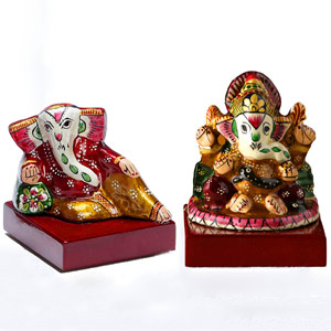 Sankatahara Ganapati Set Made in Enamelled Metal