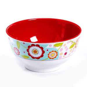 Watercolor Floral Printed Melamine Bowl