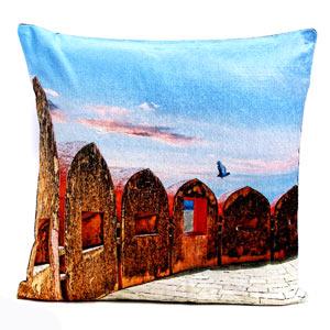 Jaigarh Fort of Jaipur Velvet Cushion Cover