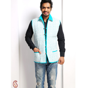 Pure Cotton Quilted Block Print Jaipuri Jacket
