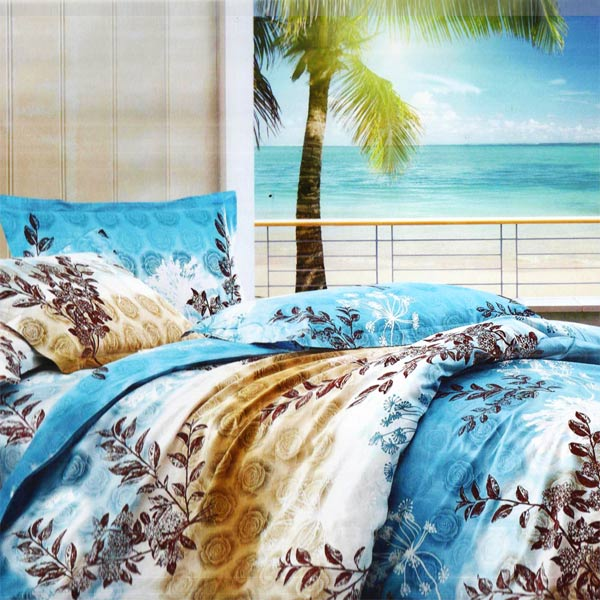 Floral Printed Cotton Double Bedsheet Set