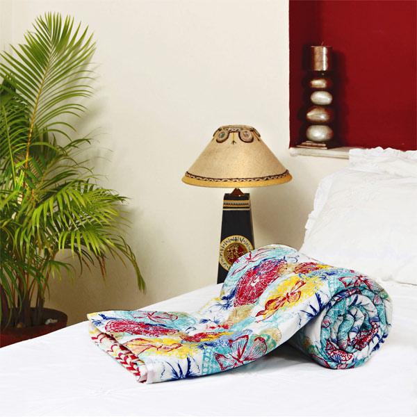 Reversible Soft Cotton Single Bed Razai
