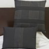 Black Embroidered Cotton Cushion Cover Set