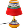 Terracotta Lamp Base with Hand Painted Lamp