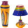 Combo of Terracotta Vase and Lamp
