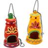 Twin Colorful Terracotta Hanging Lanterns