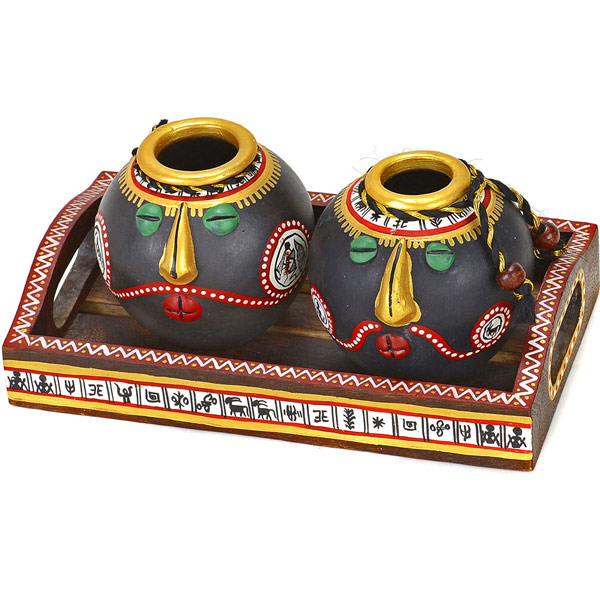 Hand Painted In Tribal Style Terracotta Bowl Set And Tray  : ar6005large3 from www.tajonline.com size 600 x 600 jpeg 91kB