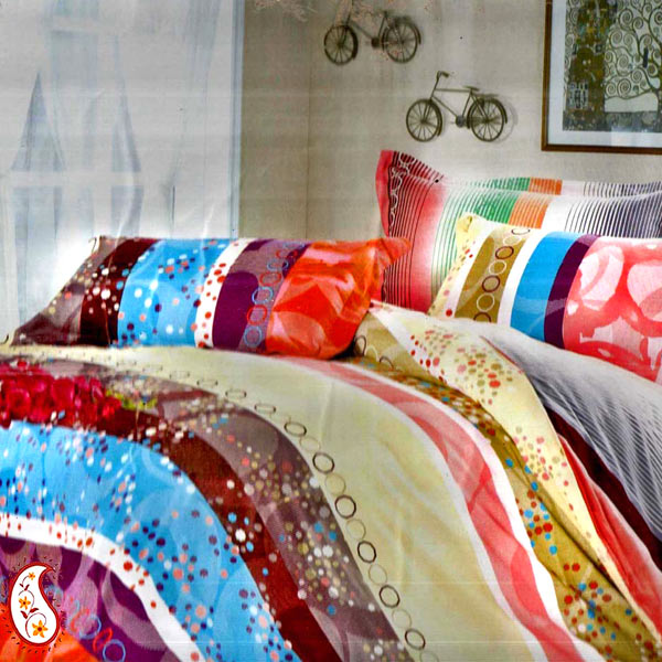 Multicolor and Multi Print Pure Cotton Bedsheet Set
