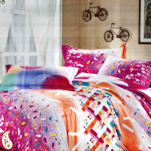 Asian-Inspired Floral Prints and Fabulous Colors Bedsheet Set