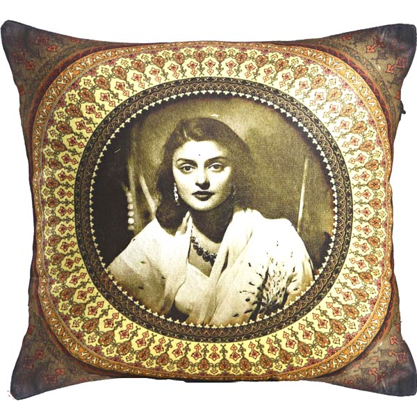Rani Gayaithri Devi Digital Print Poly Velvet Cushion Covers