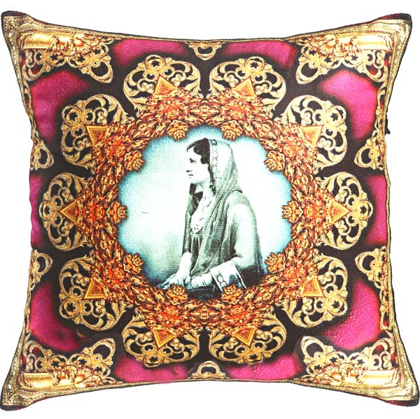 Queen of Rajastani Digital Print Poly Velvet Cushion Covers