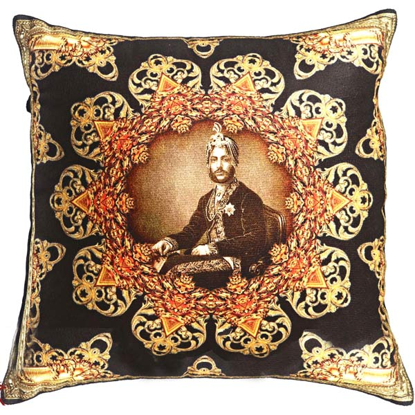 Royal Rajastani Collection Cushion Cover in Poly Velvet