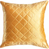 Golden Yellow Quilted Poly Silk Decorative Cushion Cover Set