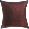 Chocolate Brown Quilted Poly Silk Decorative Cushion Cover Set
