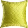 Soft Leaf Green Quilted Poly Silk Decorative Cushion Cover Set