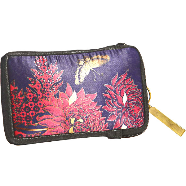 Bold Floral Print Zip Around Wallet