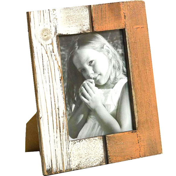 Double Color Brush Stroke Wooden Photo Frame