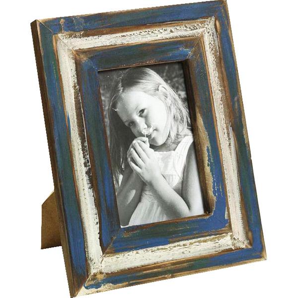 Nostalgic Blue Finish Wooden Photo Frame