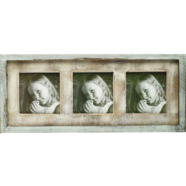 Trio Photo Frame Crafted in Wood and Hand Painted Strokes