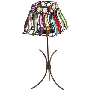 Lamps-Colored Glass Square Lamp Shade Design Tea Light Holder