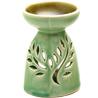 Light Green Ceramic Two in One Oil Burner and Tea Light Holder