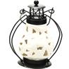 Floral Cut Pure White Ceramic Wind Lantern Tea Light Holder