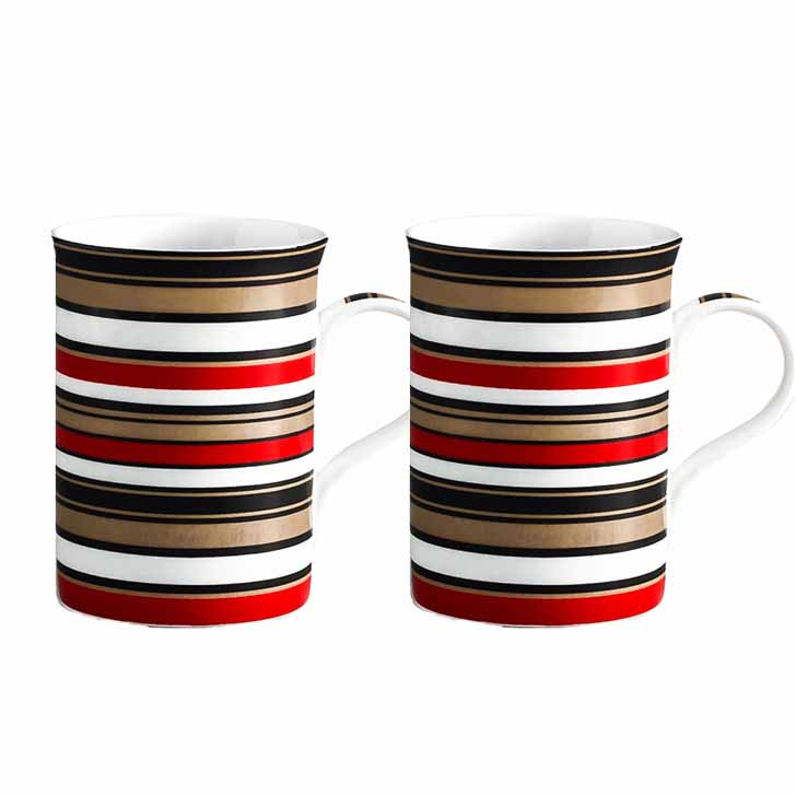 Circular Stripes Bone China Milk Mug