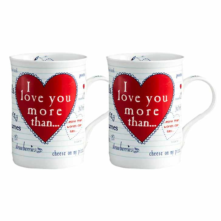 Bone China Milk Mug with Heart Motif