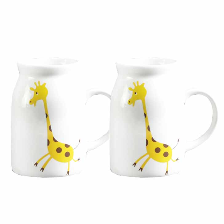 Giraffe Print Bone China Mug