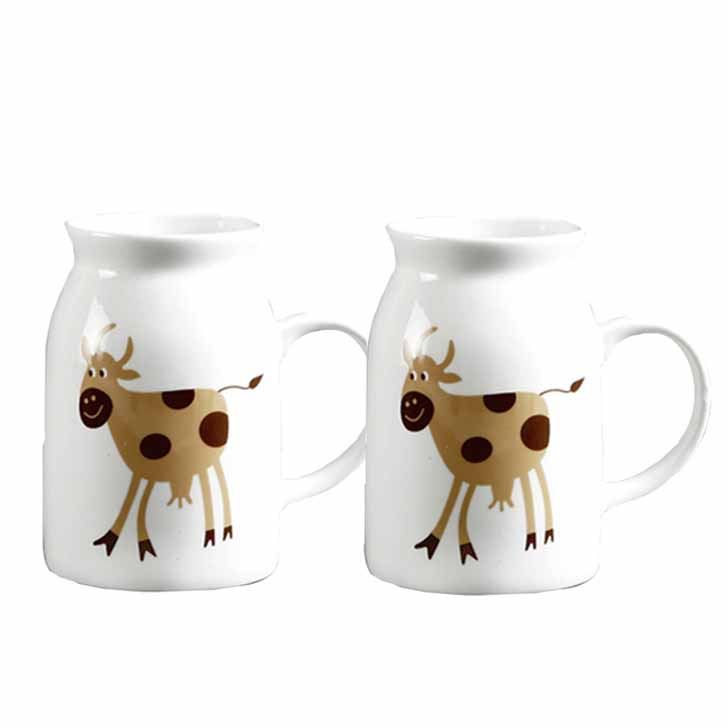 Bone China Mug with Animal Print