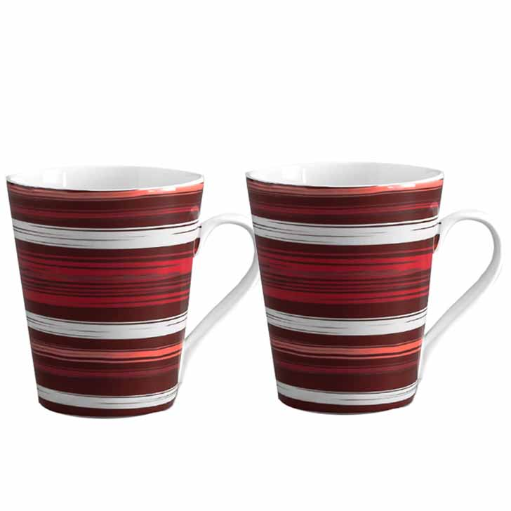 Multicolor Circular Stripes Mug