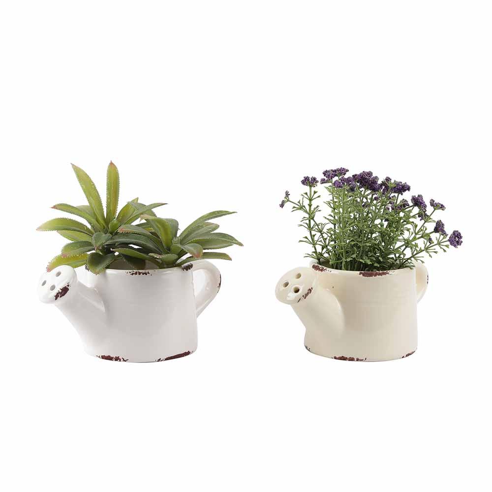 Set of 2 Stylish Kettle Style 8.5 CM Planter Pots