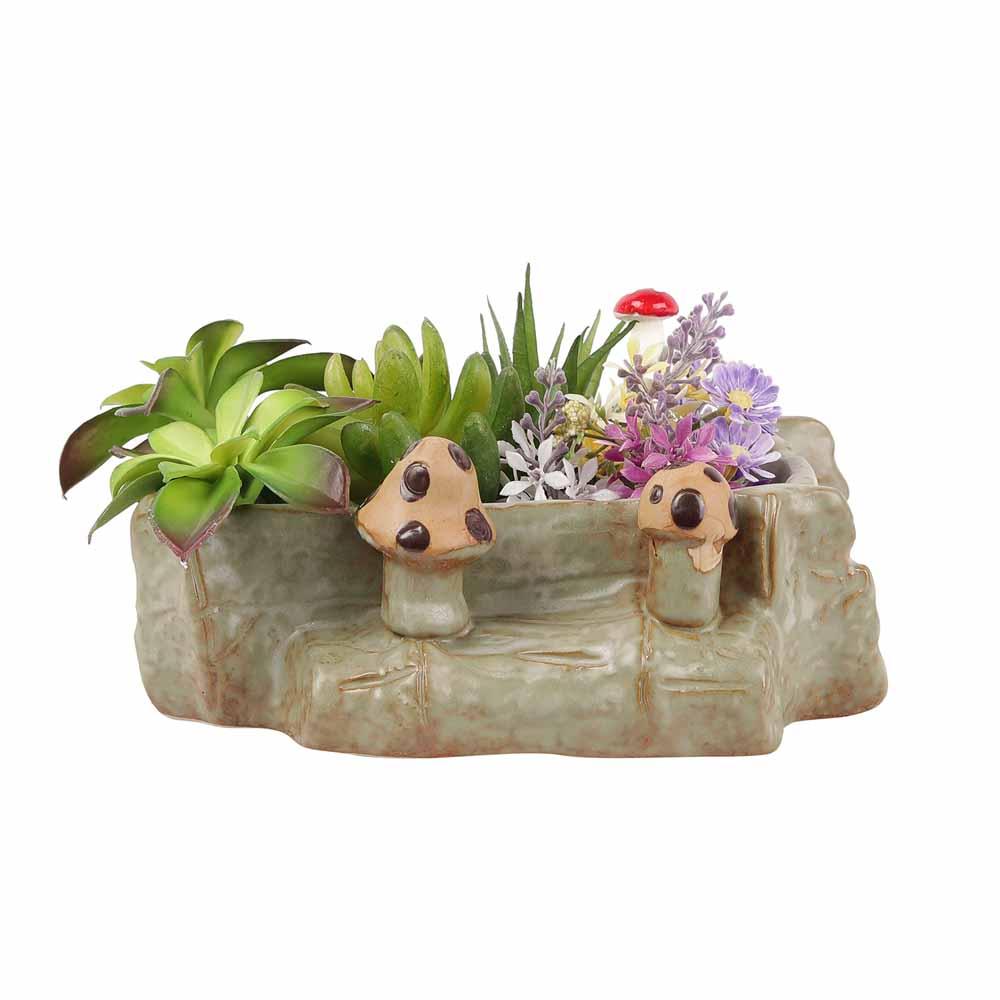 Stylish Mashroom Motif 7 CM Planter Pot