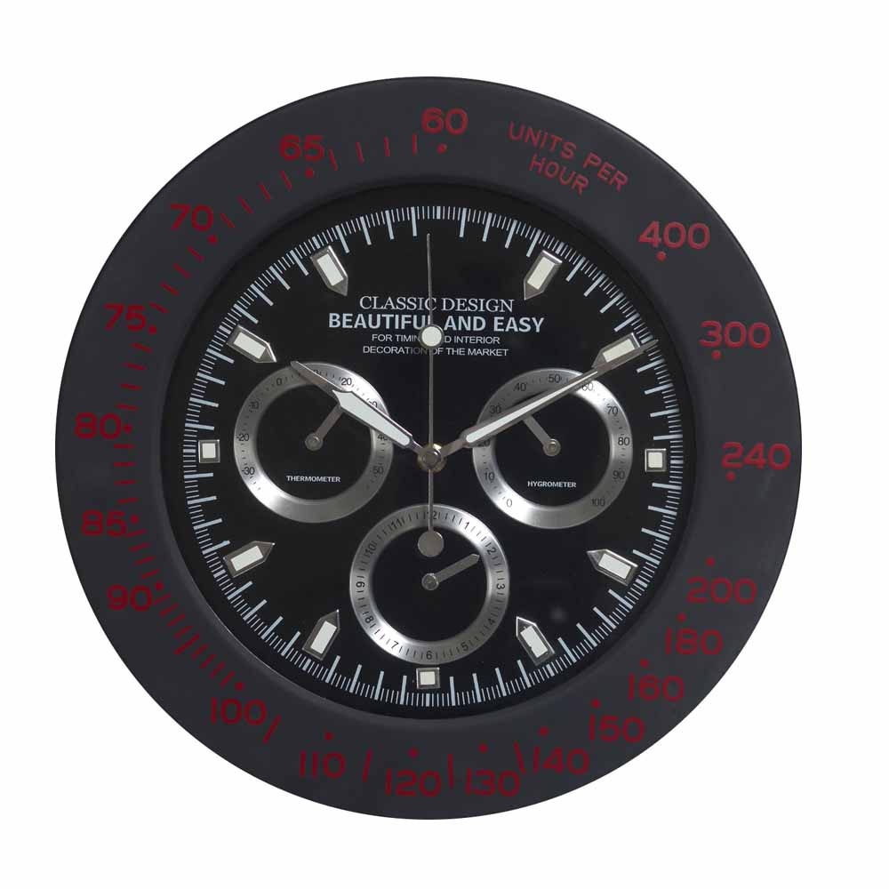 Amazing Black Round Analog Wall Clock India