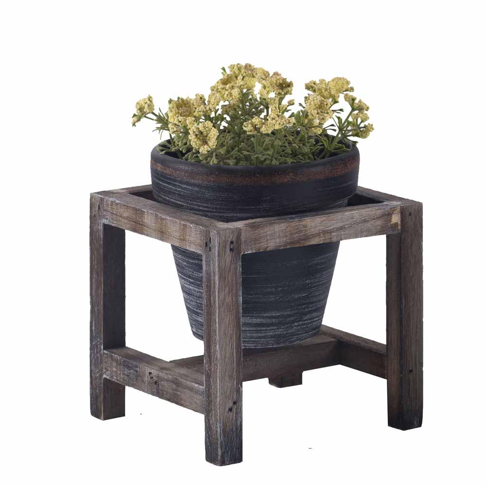 Beautiful Smoky Grey 11 CM Planter Pot with Stand