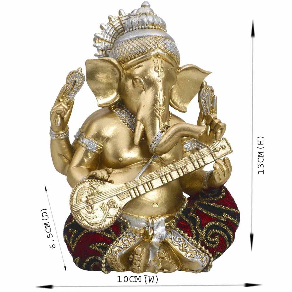 Gold Plated Idols-Elegant & Beautiful Gold Finish Ganesha Idol Showpiece
