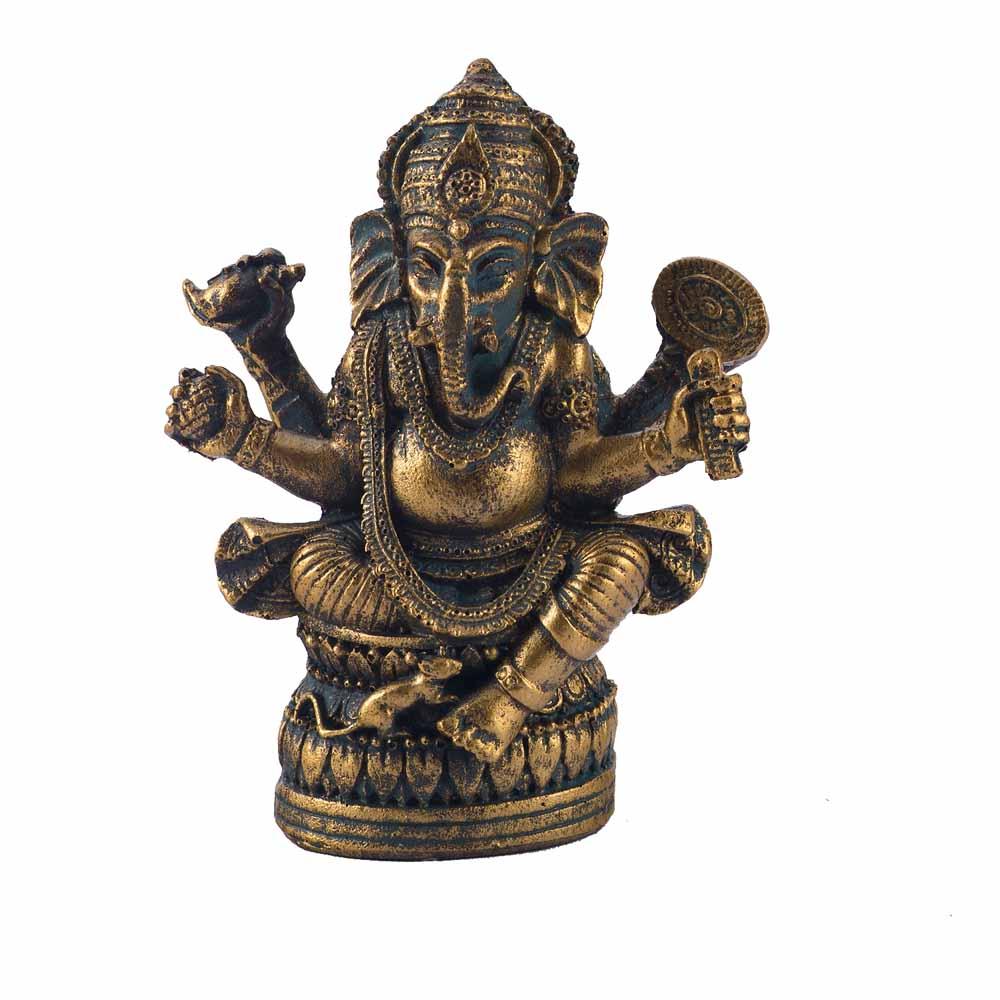 Gold Plated Idols-Gold Rust Finish Amazing Ganesha Idol Showpiece