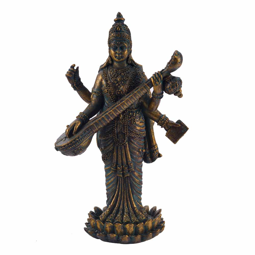 Beautiful & Unique Saraswati Idol Showpiece