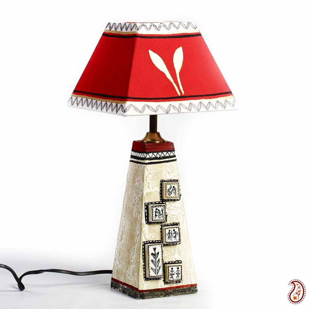 Hand painted Shade Table Lamp with Terracotta Base