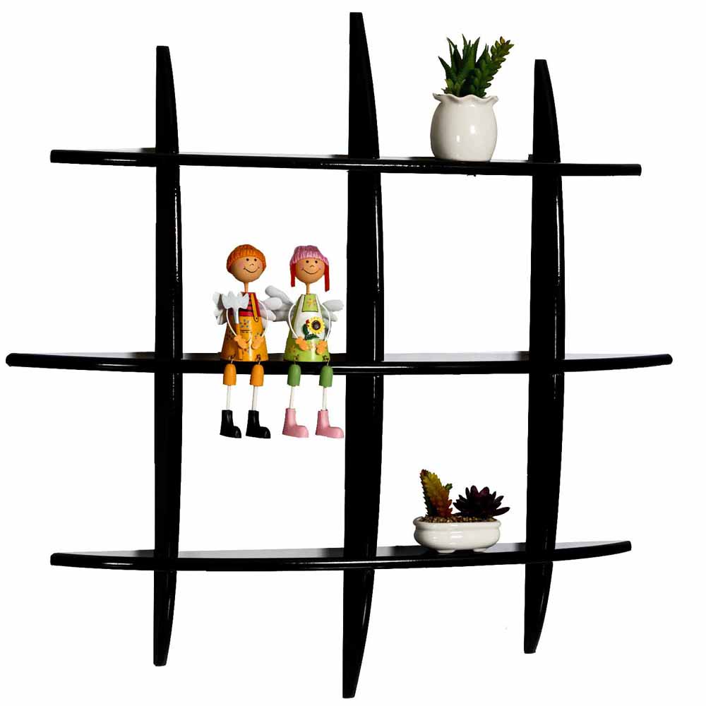 Wall Shelves-Graceful Brown Multi Shelf Wall Hanging