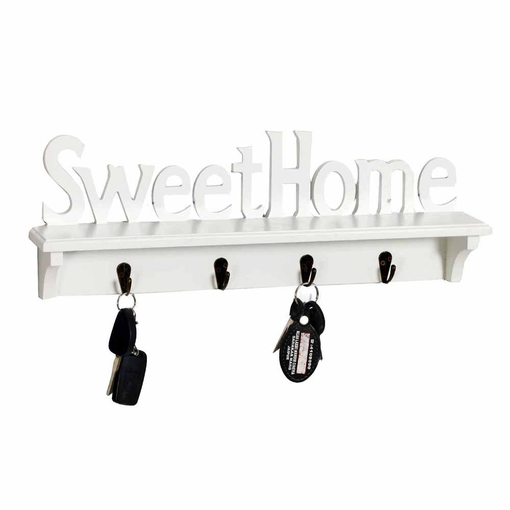 White Elegant Key Holder for Sweet Home