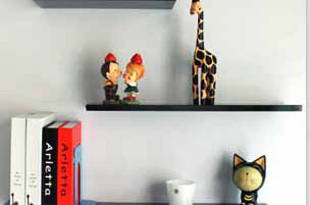 Wall Shelves-Charming Red MDF Wall Shelf