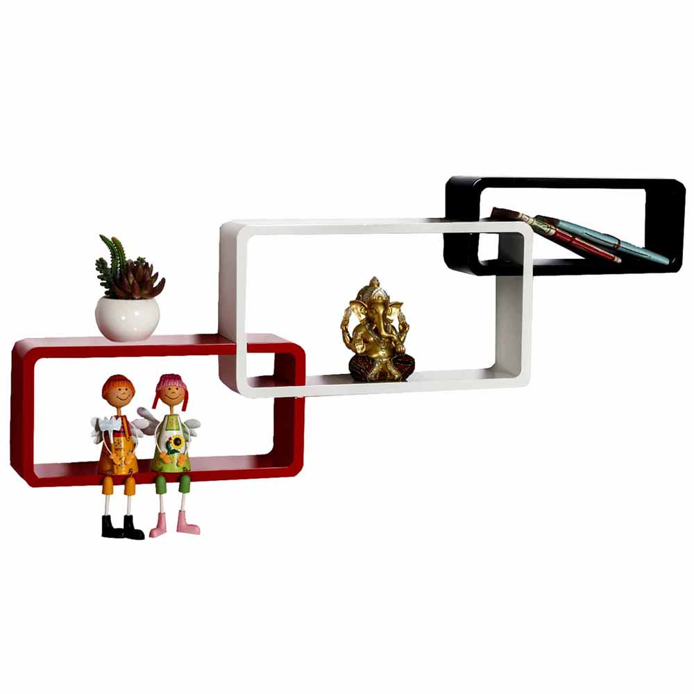 Multicolor Frame Shape Wall Shelves