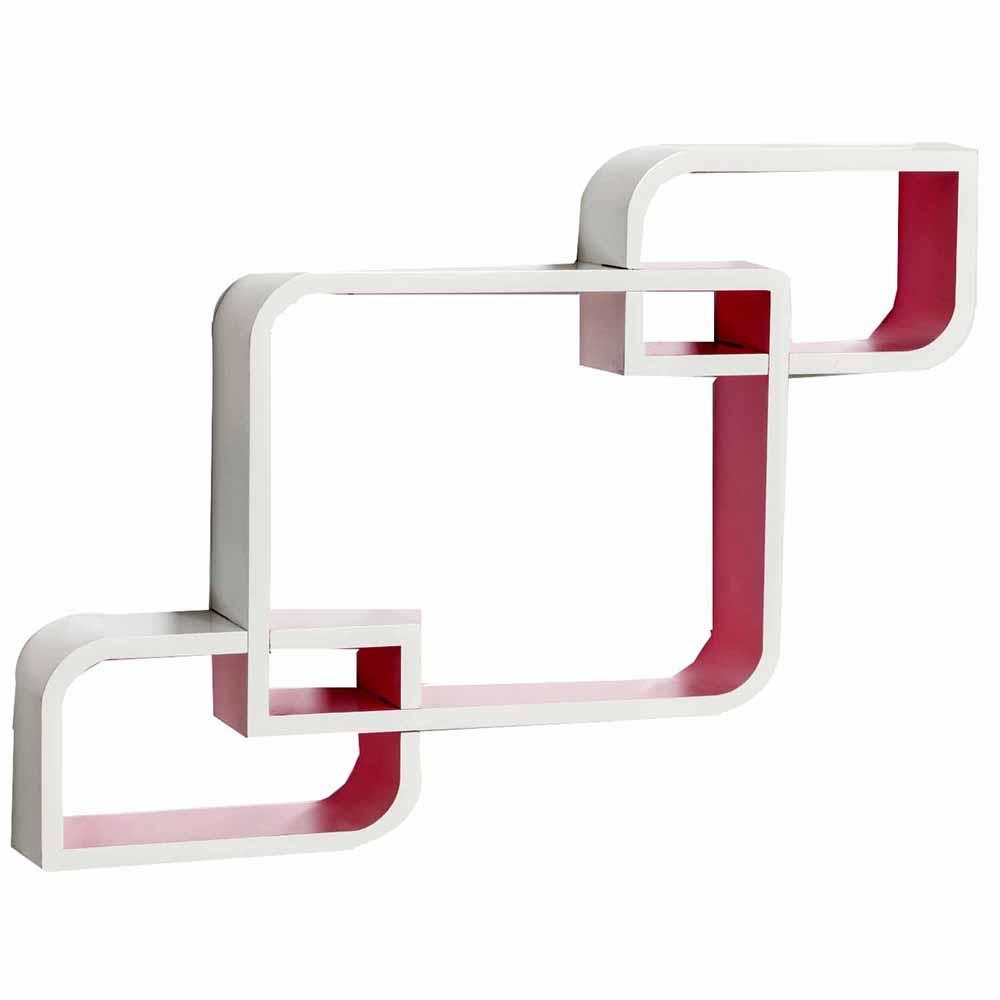Wall Shelves-Pink & White Stylish Wall Shelves