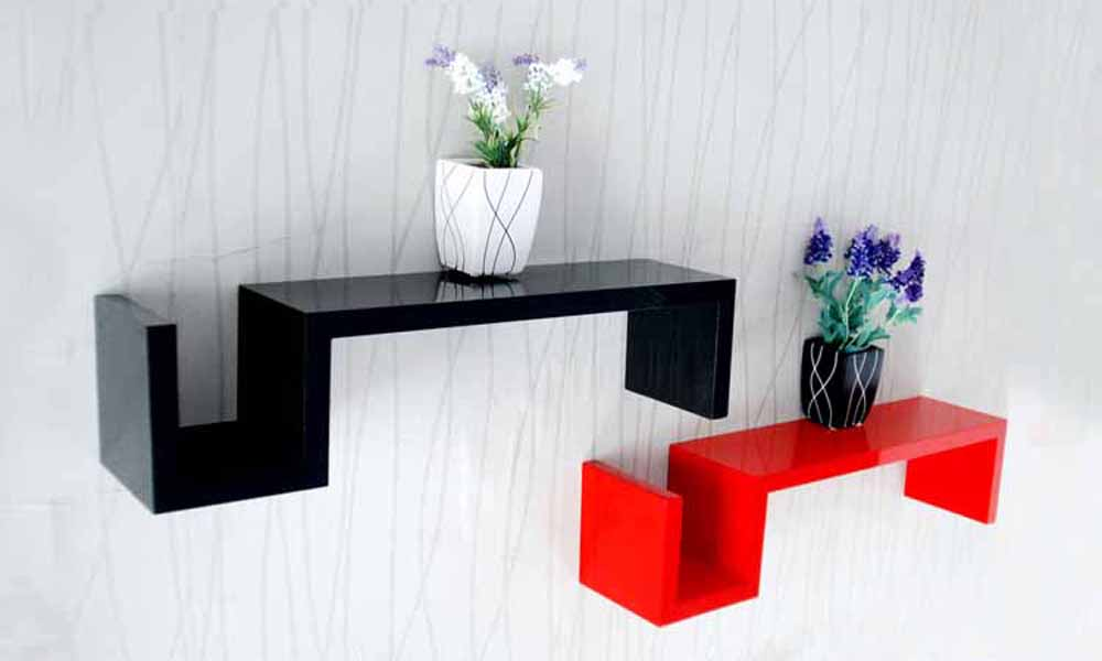 Wall Shelves-Lovely & Creative Brown Wall Shelves