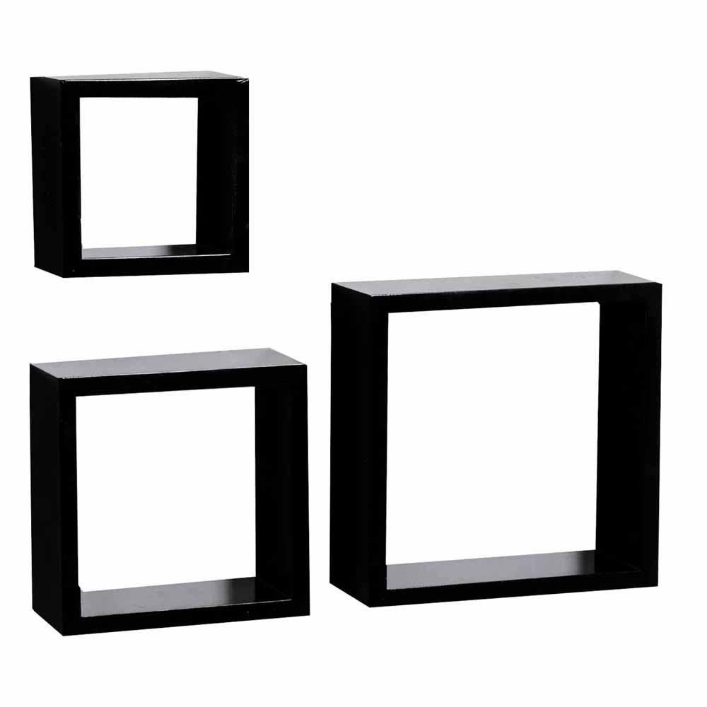Wall Shelves-Square Shape Brown Shade Wall Shelves