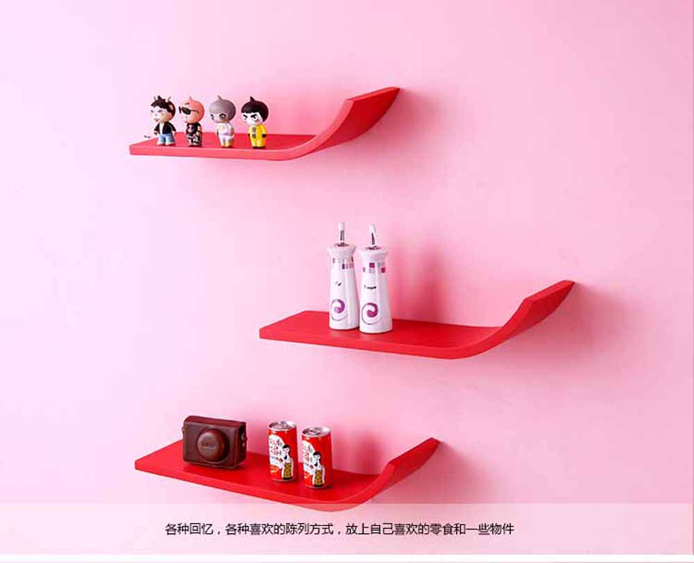 Wall Shelves-Brown Unique Shaped Wall Shelves