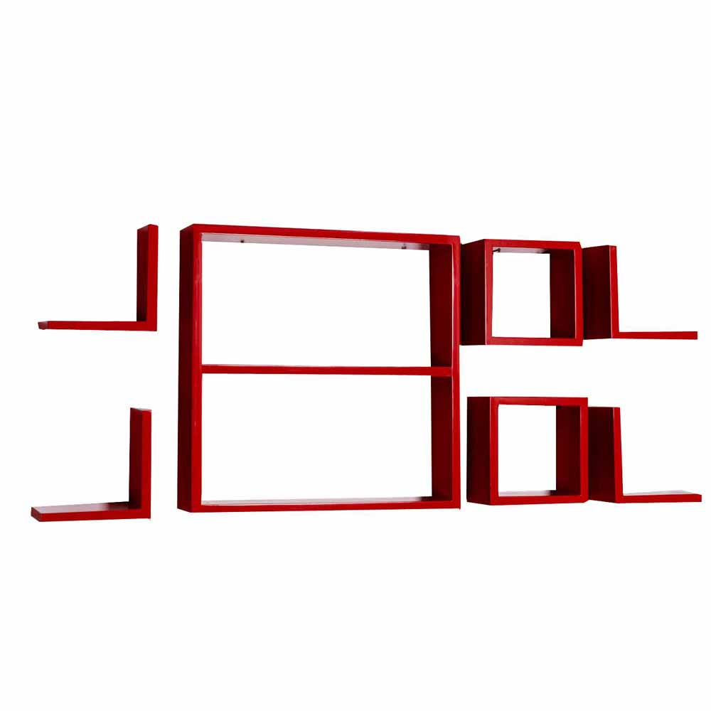 Wall Shelves-Amazingly Stylish Red Wall Shelves