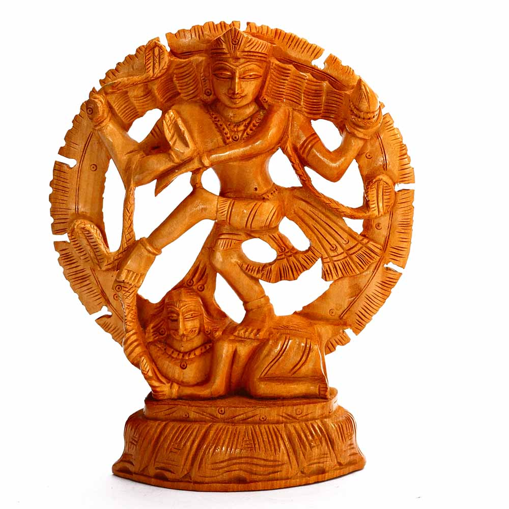 Natraj Showpiece finely Carved in Wood