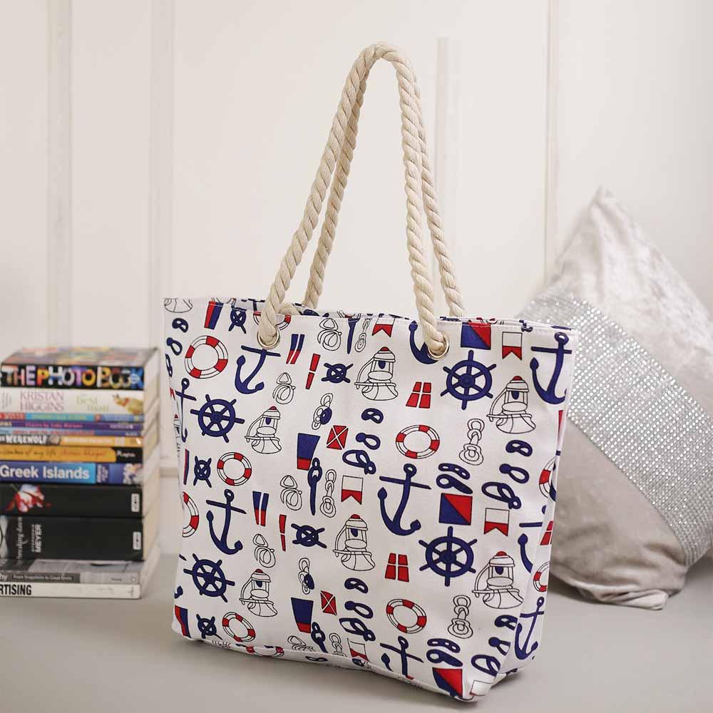Beautiful White Contemporary Print Handbag